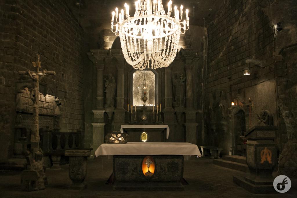 Na capela, o visual é impressionante.