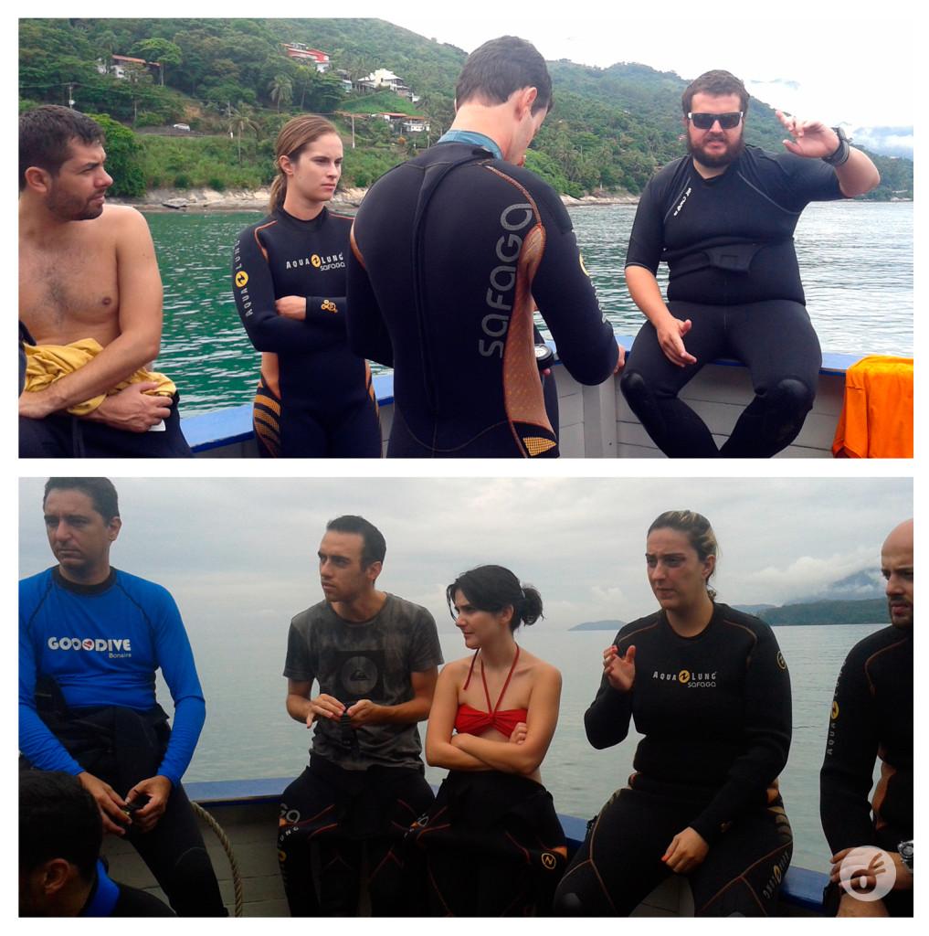 Reunião antes do mergulho