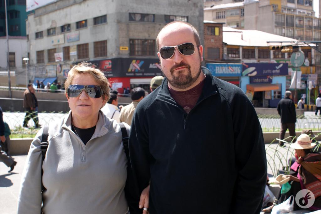 O primeiro dia de fato fora do Brasil - nesse caso, em La Paz.