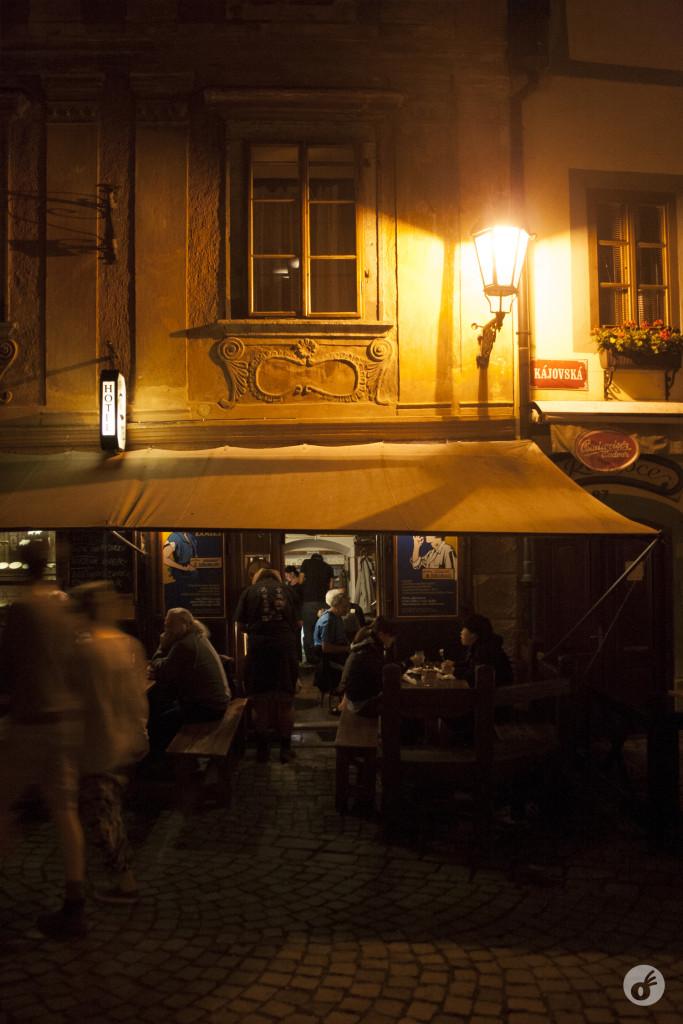 A vida noturna de Český Krumlov :)