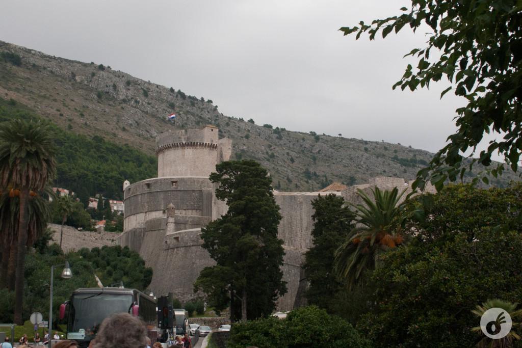 Minceta Tower - a primeira pancada na chegada às muralhas de Dubrovnik.