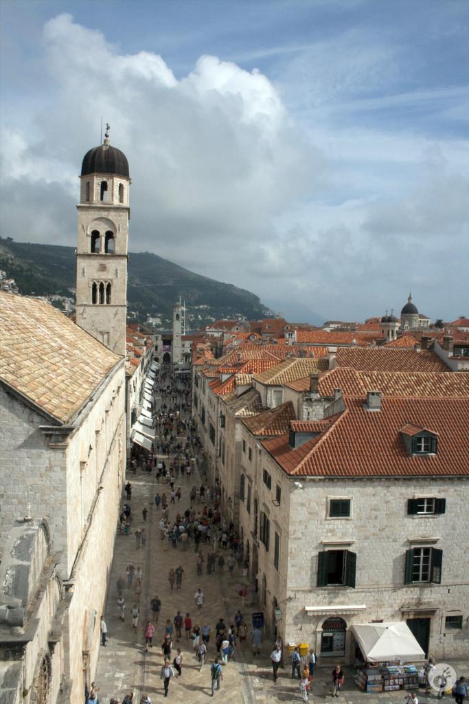Uma visão geral da entrada do Old Town.