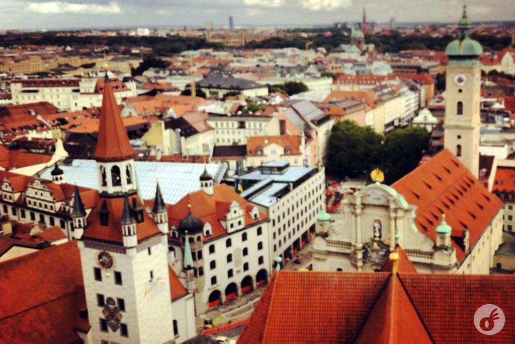 Visão aérea do centro de Munique