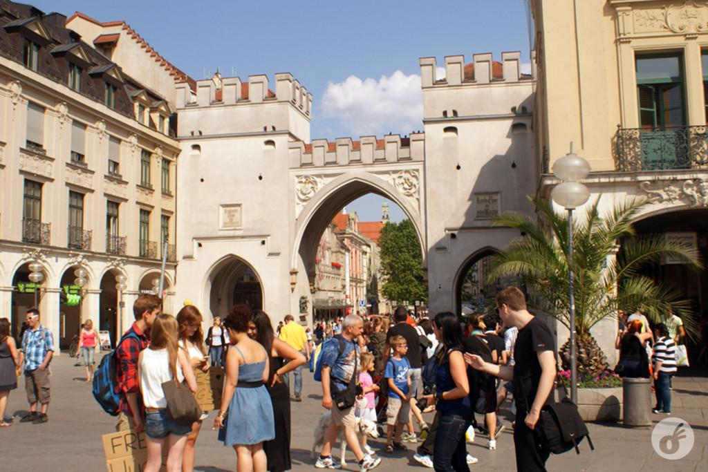 Karltor, o portão da antiga muralha medieval que cercava Munique