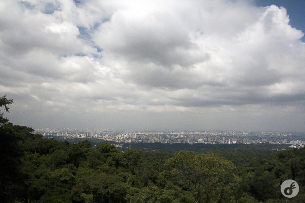São Paulo logo ali, gigantesca como sempre.