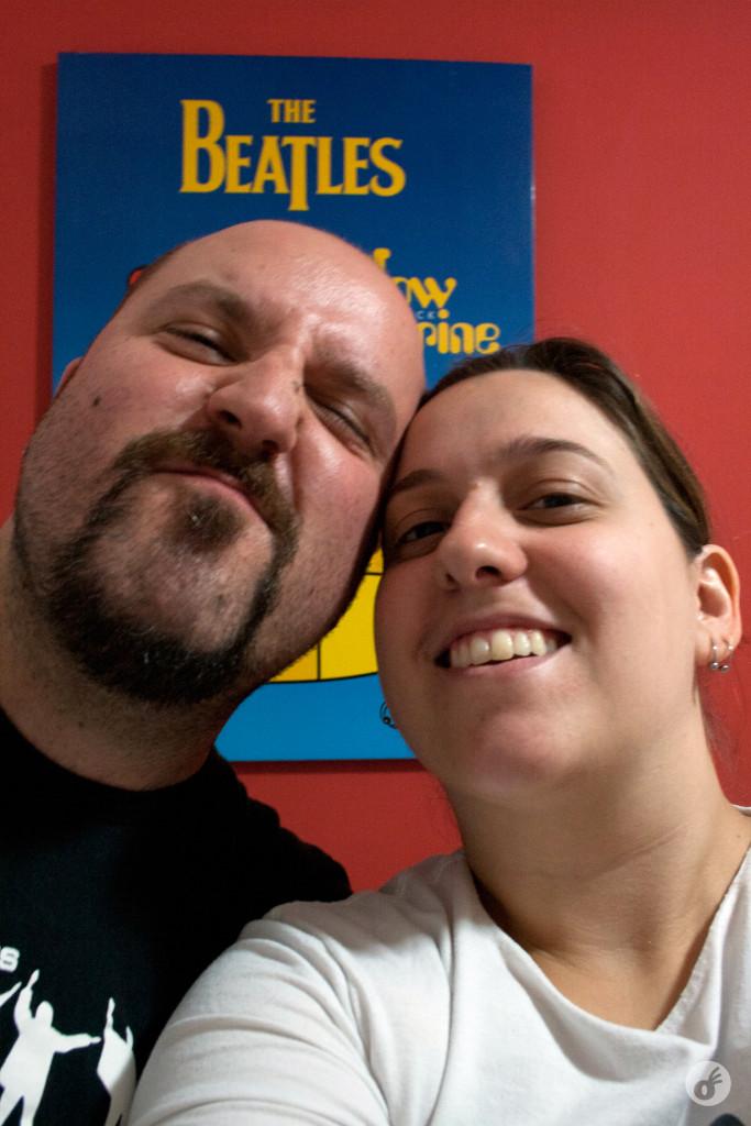 Uma selfie antes do melhor show das nossas vidas.