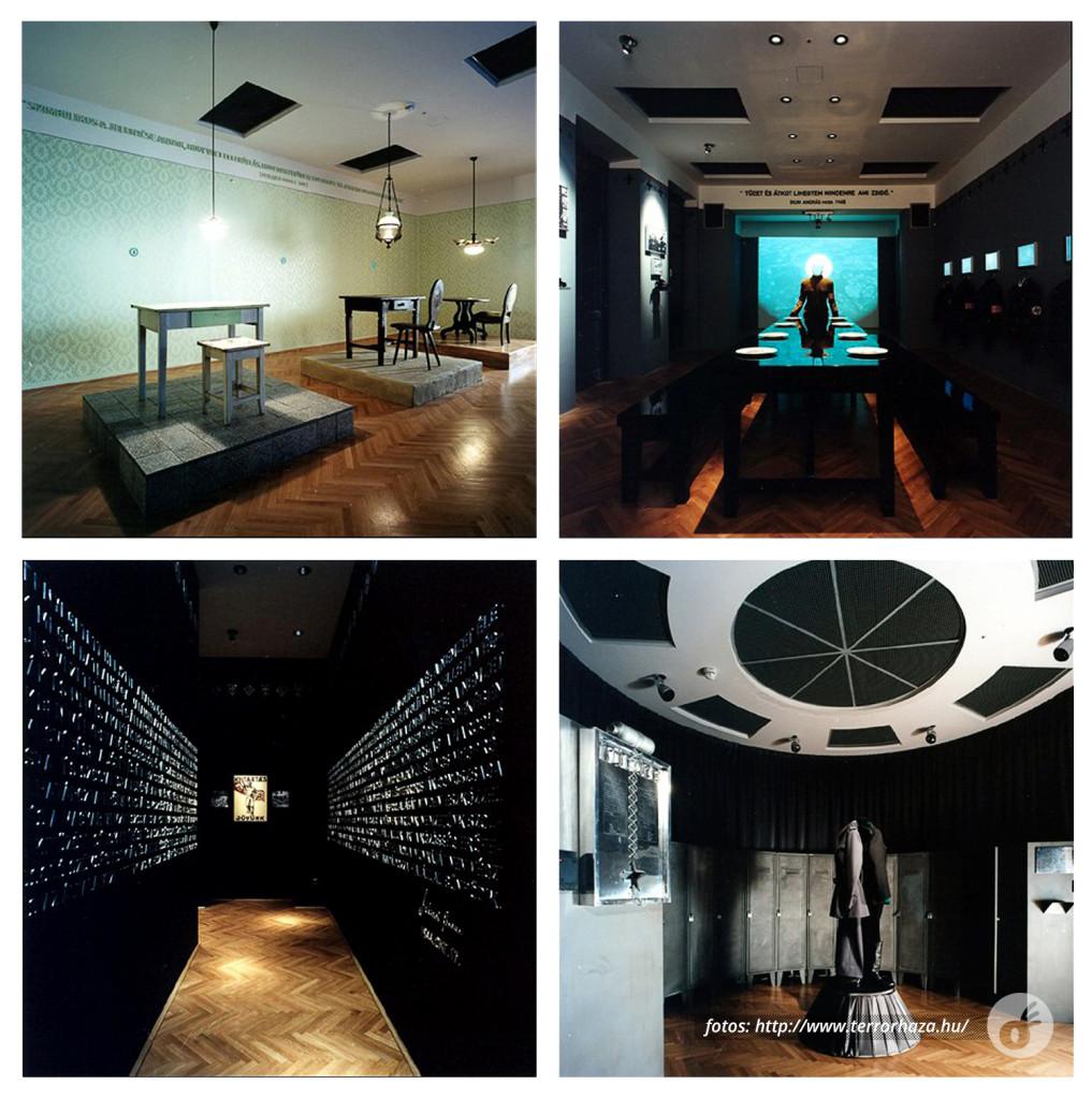 O corredor, as salas de reunião e interrogatório, e o vestiário.