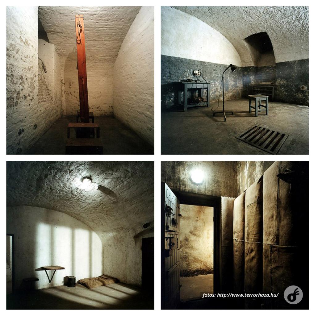 A área prisional e de tortura, exatamente como era.