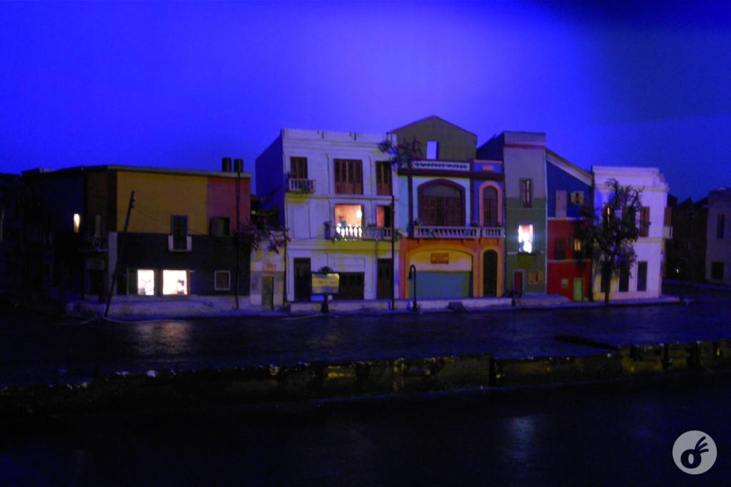 Uma miniatura do bairro, nos tempos de fundação do estádio.