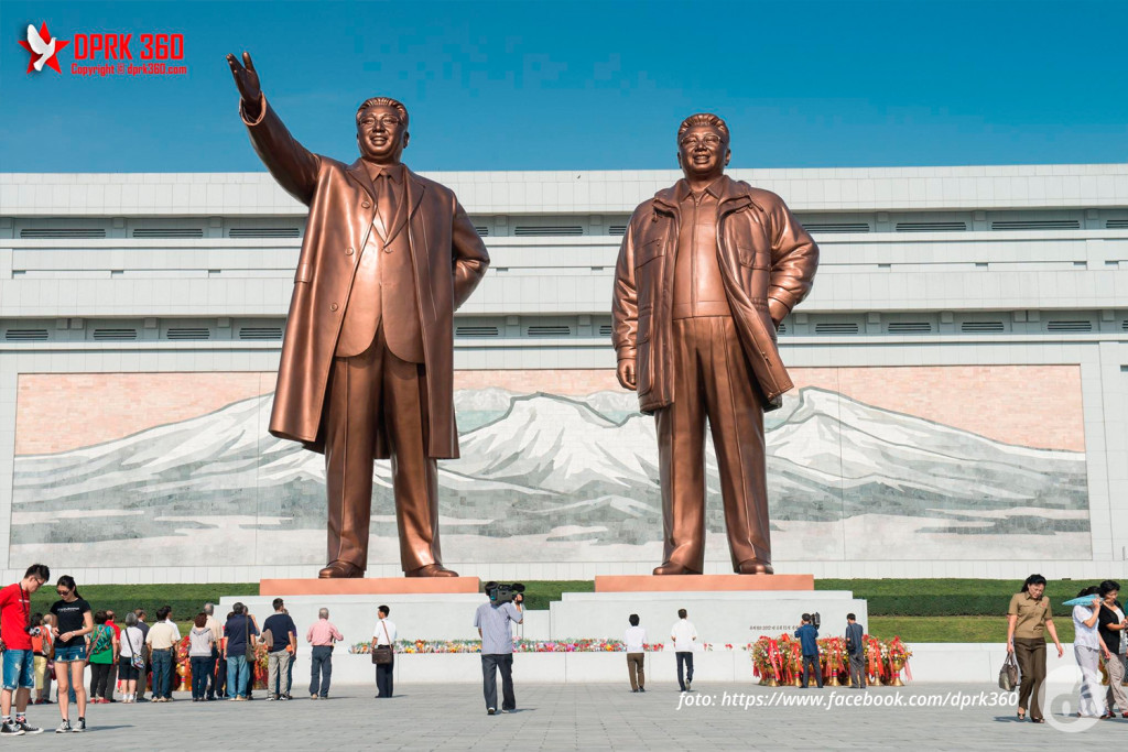 Kim Il-sung e Kim Jong-il - o centro do universo na Coreia do Norte.