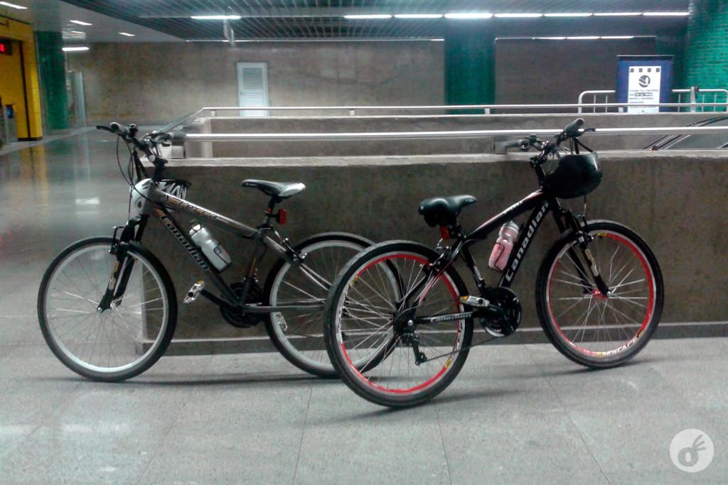 O primeiro passeio de bicicleta começou no metrô...