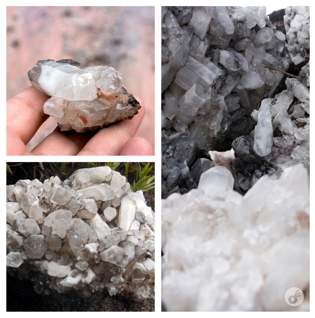 De todos os tamanhos, os cristais que dão nome ao vale...